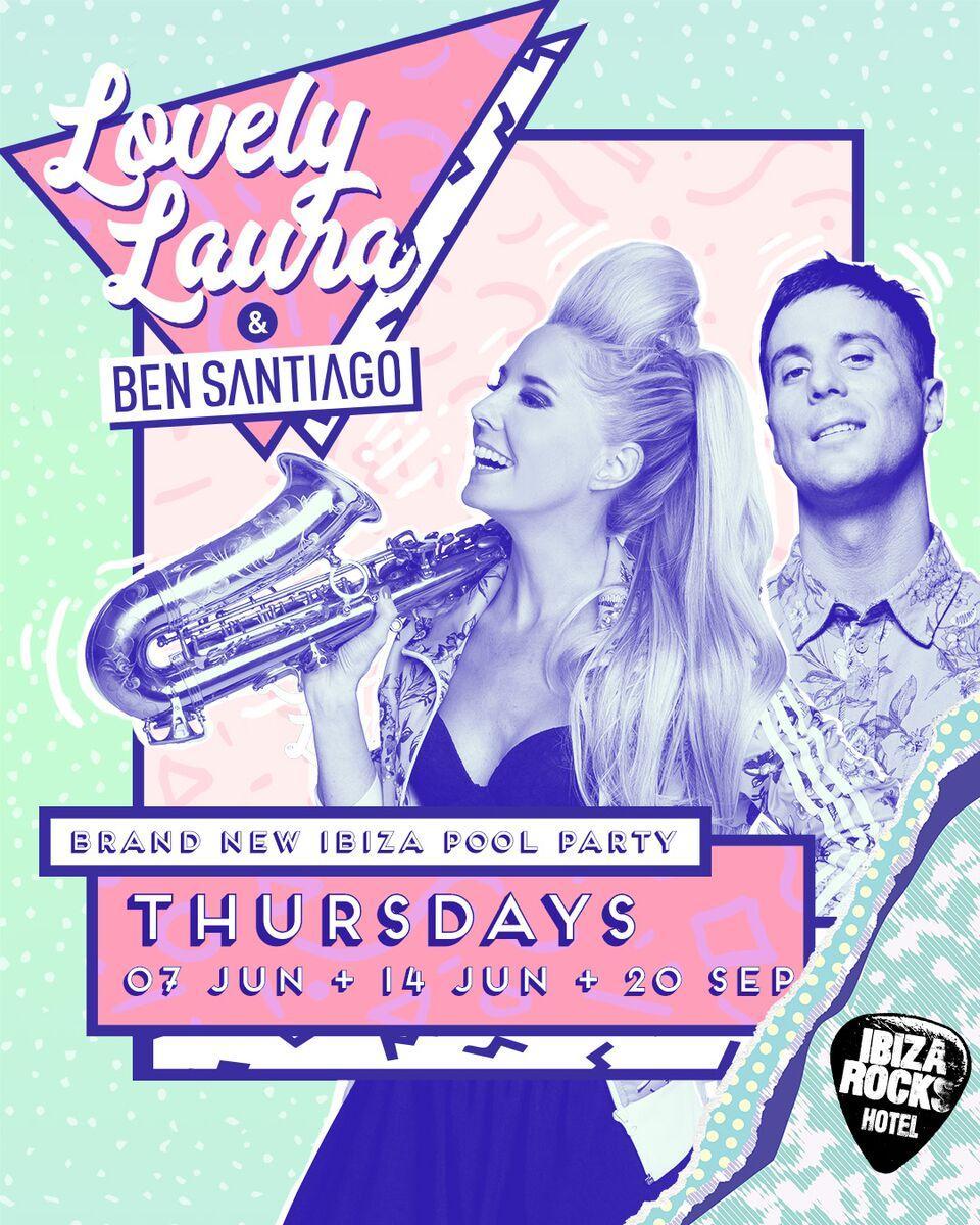 Lovely Laura & Ben Santiago Confirmed For Ibiza Rocks!