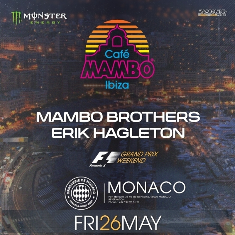Cafe Mambo heads for the Grand Prix in Monaco