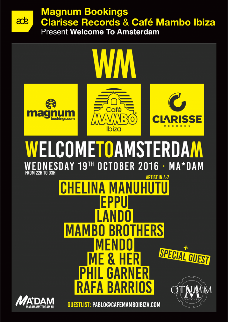 Cafe Mambo, Clarisse Records & Magnum Bookings at ADE