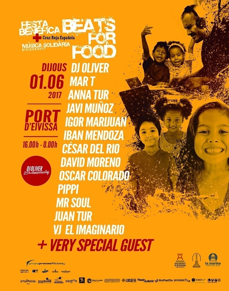 DJ Oliver Celebrates 25 years of DJing with 'Beats For Food' Festival in Ibiza