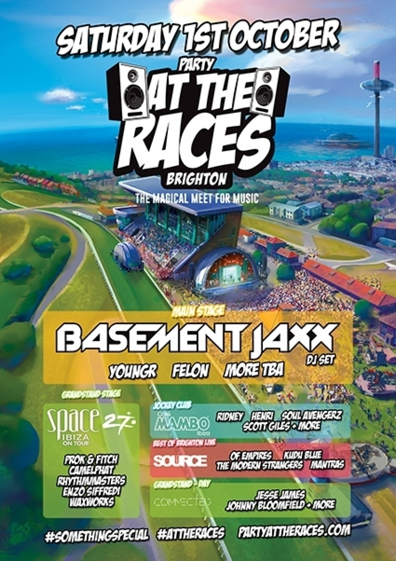 Cafe Mambo joins ´Party At The Races´ in Brighton (UK)