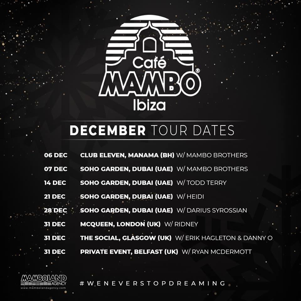 Cafe Mambo December tour 2018